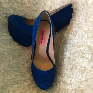 Blue Betsey Johnson Heels 6.5